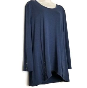 Simply Noelle | Asymmetrical Tunic Top Blue L / XL